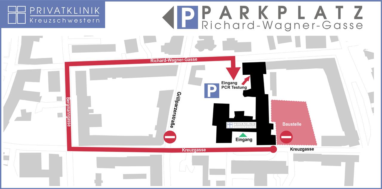 Parkplatz Privatklinik der Kreuzschwestern